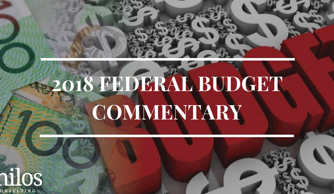 2018 Federal Budget Commentary